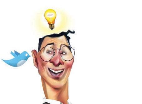 Ideas tecnológicas de la tierra del Twitter