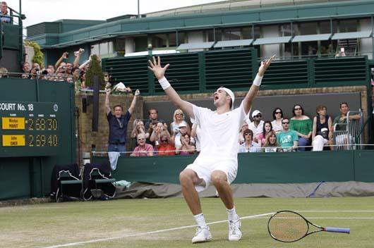 John Isner gana el partido más largo de la historia del tenis