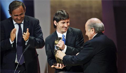 Messi elegido 'Mejor Futbolista Mundial 2009' FIFA