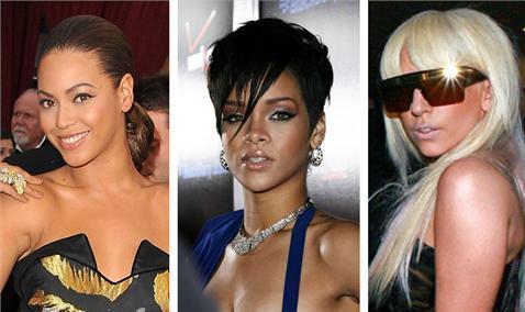 Lady Gaga, Beyoncé y Rihanna entre las mejor vestidas de 2009