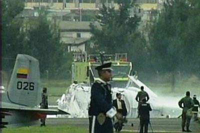 Helicóptero se cayó durante actos de la FAE