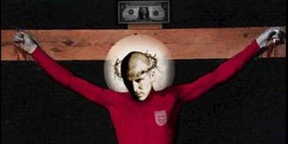 Pintura de crucifixión de Beckham genera polémica