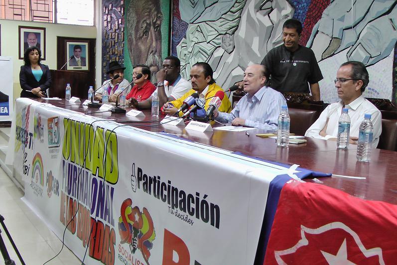 Precandidatos de la Unidad Plurinacional visitan Manabí