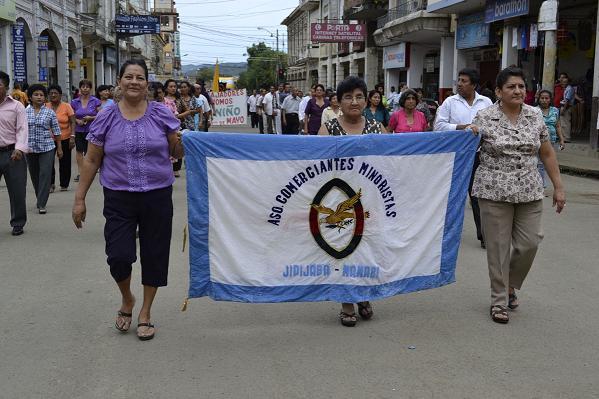 Cantones de Manabí marchan en el Día del Trabajo