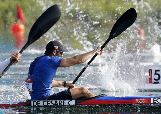 César de Cesare no pasa a las finales en kayak