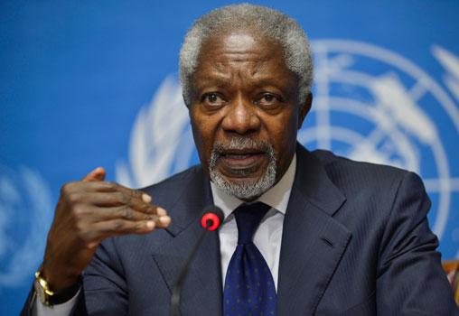 Kofi Annan renuncia como enviado especial en Siria