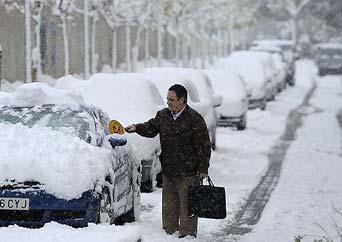 España, bajo un temporal siberiano de frío y nieve