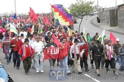 La marcha se acerca a Quito