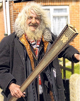 Un vagabundo llevaría la antorcha de las olimpiadas