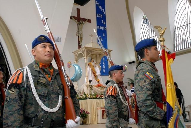 Militares también agradecen a la virgen