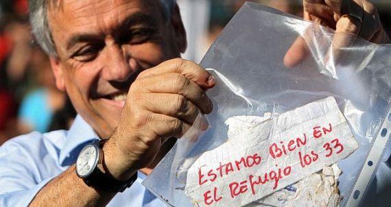Mensaje de los 33 de Atacama comparte caja con textos de Neruda y Mistral