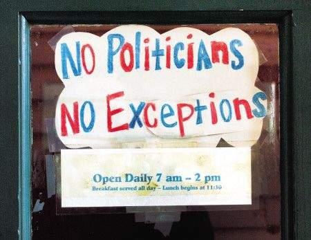 Un restaurante en EE.UU. prohíbe el ingreso a políticos