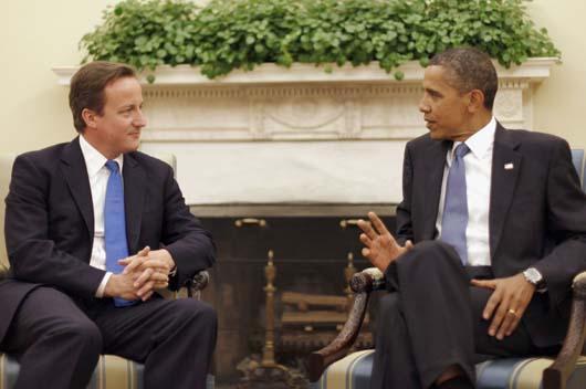 Obama y Cameron se reúnen en Washington