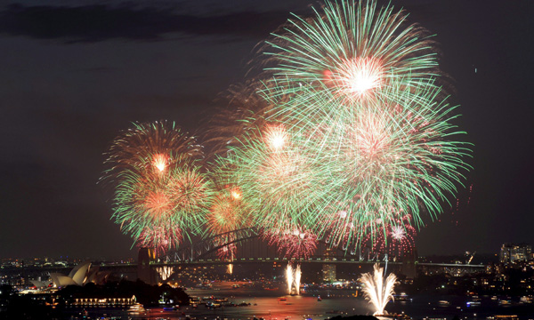 Oceanía ya celebró el Nuevo Año