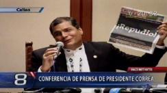 Con poesía Correa responde a diario peruano