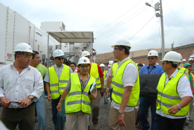 Empezó a operar la turbina instalada en Manta