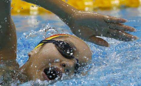 Arévalo es eliminada en la categoría de 800 metros libres