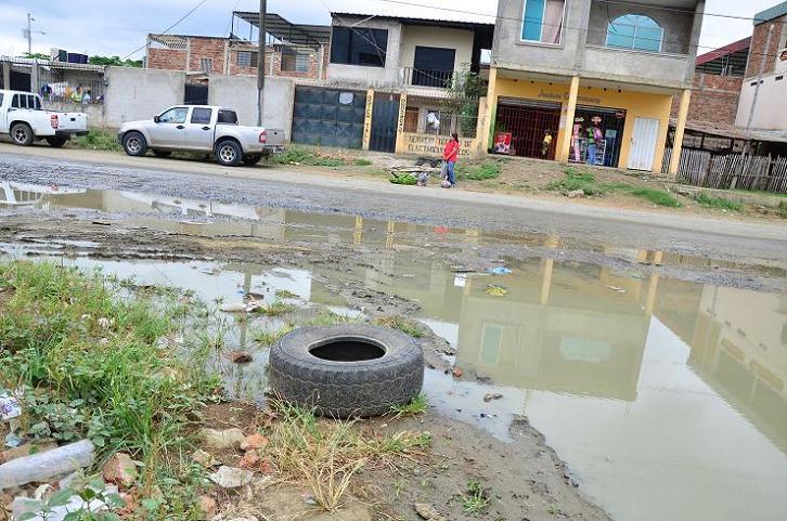 San Alejo afectado por el mal estado de las calles