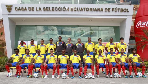 La foto oficial de la selección ecuatoriana se tomó en un minuto