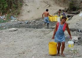 El cauce del Tachina Pedernales se quedó sin agua