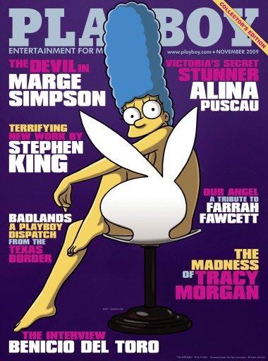 Marge Simpson convertida en 'conejita' de Playboy