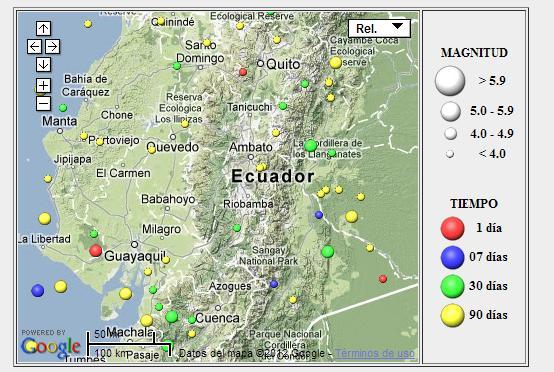 Sismos en Ecuador tres se han registrado en las ltimas 24 horas