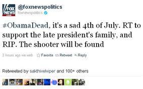 Piratean cuenta de Fox News en Twitter para anunciar muerte de Obama
