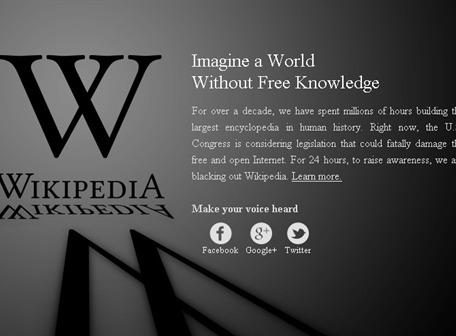 Wikipedia y Google protestan por ley SOPA