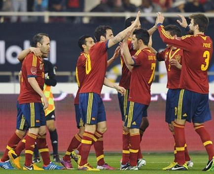 Selección de España recibe a Irlanda