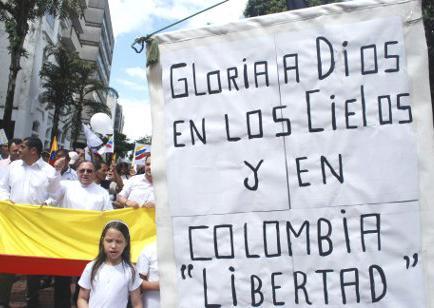 Colombianos realizarán caminata por la paz