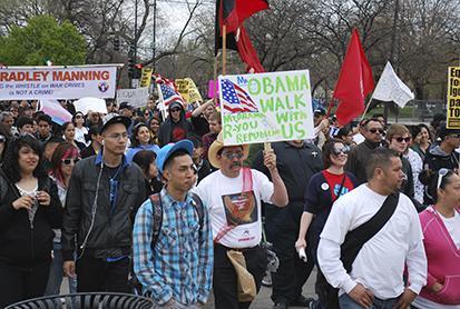 Los migrantes marchan en Estados Unidos para pedir reforma migratoria