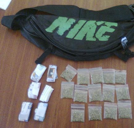 Lo detienen con 15 gramos de marihuana