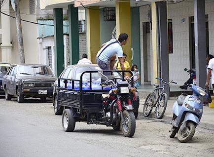 El uso de tricimotos  es cada vez mayor en las calles de la ciudad