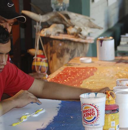 Un documental muestra arte invidente