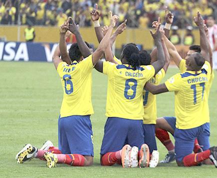 La selección ecuatoriana es décima en el mundo