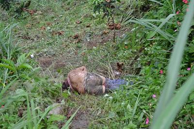 Muerto en  un barranco