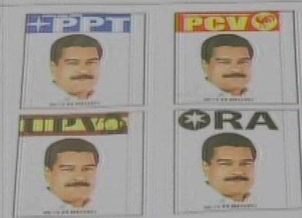 Nicolás Maduro aparece 14 veces en la papeleta electoral