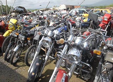 Policía retiene tres motos en operativo