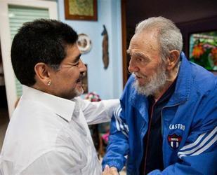 Maradona visitó a Fidel Castro