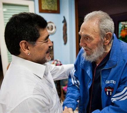 Maradona visita a Fidel Castro en La Habana