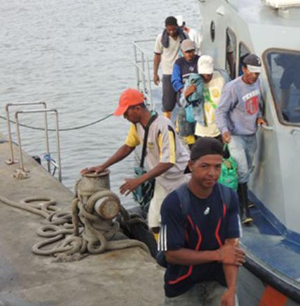 16 pescadores fueron rescatados