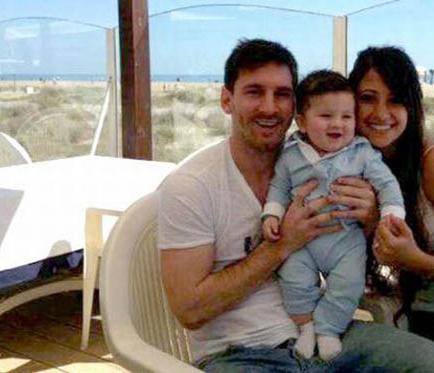 Messi disfruta junto a su familia