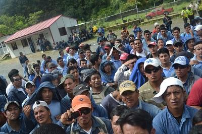 Trabajadores protestaron por pago de utilidades