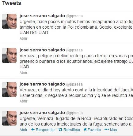 Ministro informa de la recaptura de uno de los prófugos de La Roca