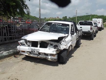 Tres carros colisionaron entre sí