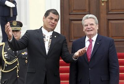 Correa llama a los empresarios alemanes a invertir en Ecuador