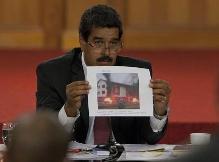 Maduro acusa a Capriles de incendio de dos sedes de PSUV
