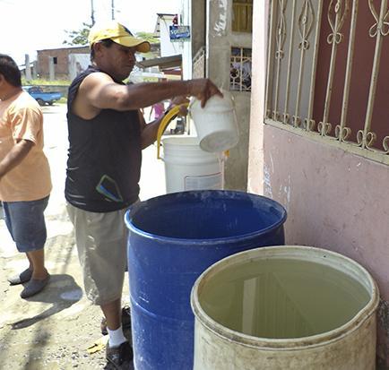 La entrega de agua potable vuelve a la normalidad