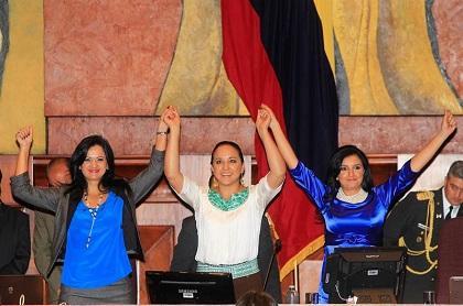 Gabriela Rivadeneira fue posesionada como presidenta de la Asamblea Nacional