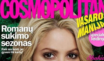Shakira plasma aspectos de su vida en Cosmopolitan